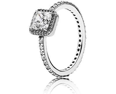 Stříbrný prsten se zářivými kamínky 190947CZ