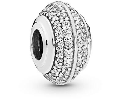 Stříbrný třpytivý korálek 798066CZ