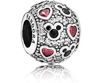 Stříbrný třpytivý korálek Disney Mickey Mouse 791457CZ