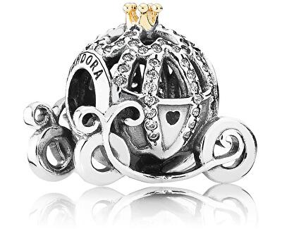 Stříbrný třpytivý korálek Disney Popelčin dýňový kočár 791573CZ