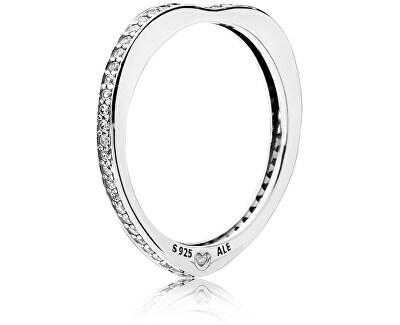 Stříbrný zamilovaný prsten 197095CZ