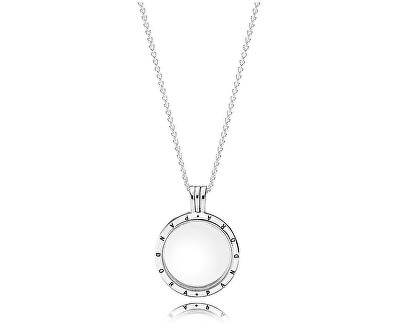 Stylový náhrdelník s medailonem 590529-60 (řetízek, přívěsek)
