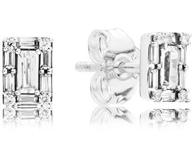 Třpytivé stříbrné náušnice 297567CZ