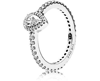 Třpytivý stříbrný prsten 196254CZ