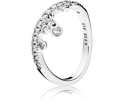 Třpytivý stříbrný prsten 197108CZ