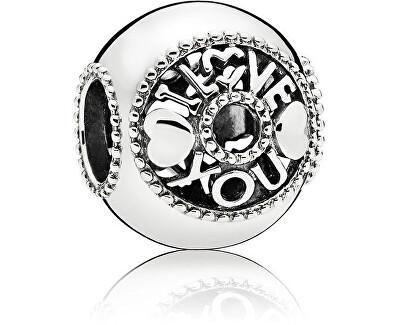 Zamilovaný stříbrný korálek 796601