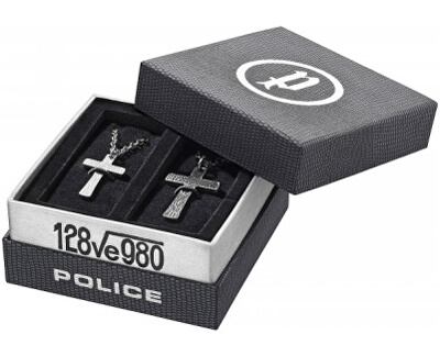 Police Set  de coliere Cruci Cryptic PJ25694SET