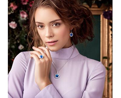 Stříbrné náušnice Camellia 6107 63