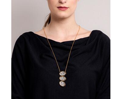Dlouhý ocelový náhrdelník s třpytivým přívěskem Idared 7365 46