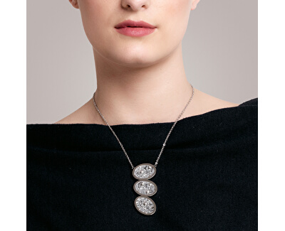 Ocelový náhrdelník s třpytivým přívěskem Idared 7364Y41