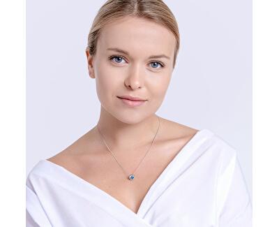 Stříbrný náhrdelník Lynx Akva 5268 67 (řetízek, přívěsek)