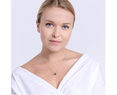 Stříbrný náhrdelník Lynx Emerald 5268 66 (řetízek, přívěsek)