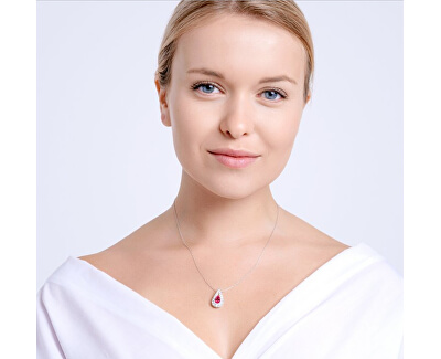 Třpytivý náhrdelník Libra 5242 55 (řetízek, přívěsek)