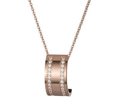 Preciosa Bronzový náhrdelník Mia s čírymi kryštálmi 7224P00