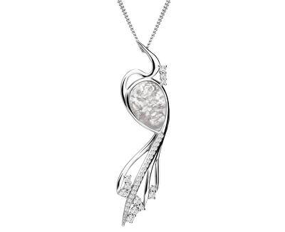 Elegantní náhrdelník Ines Matrix bílý 6109 11 (řetízek, přívěsek)