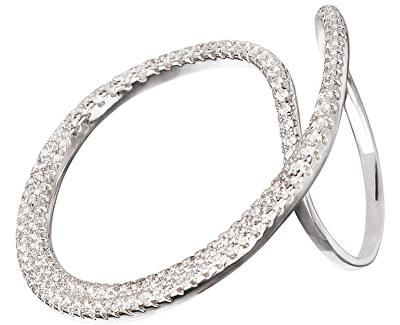 Preciosa Fashion strieborný prsteň s kryštálmi Finespun 5201 00