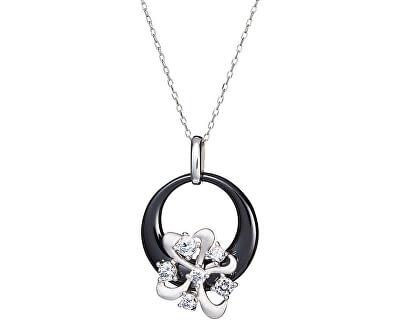 Preciosa Stříbrný náhrdelník Novel Black 5149 20