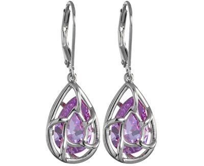 Preciosa Náušnice Enigmatic Violet 5176 56