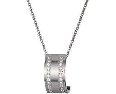Preciosa Ocelový náhrdelník Mia s čirými krystaly 7224 00