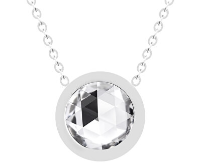 Ocelový náhrdelník s českým křišťálem Gemini 7339 00
