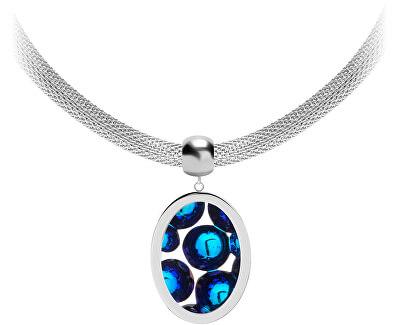 Ocelový náhrdelník s třpytivým přívěskem Idared 7360 46