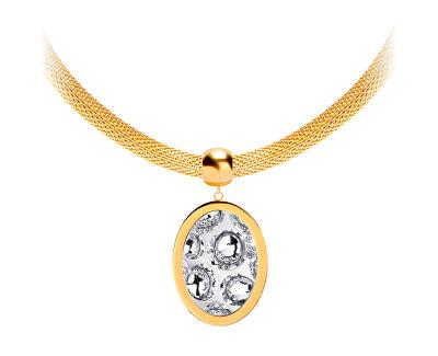 Ocelový náhrdelník s třpytivým přívěskem Idared 7360Y00