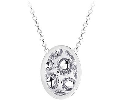 Ocelový náhrdelník s třpytivým přívěskem Idared 7361 00