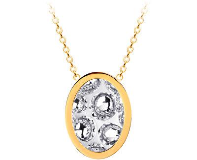 Ocelový náhrdelník s třpytivým přívěskem Idared 7361Y00