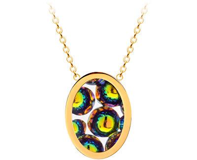 Ocelový náhrdelník s třpytivým přívěskem Idared 7361Y41