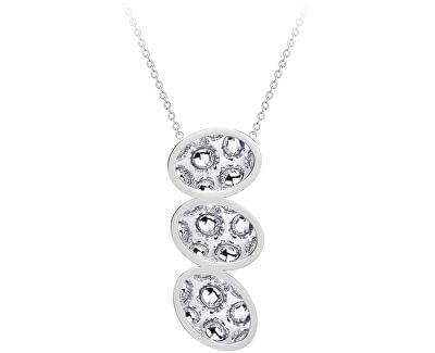 Ocelový náhrdelník s třpytivým přívěskem Idared 7364 00
