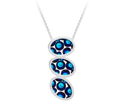 Ocelový náhrdelník s třpytivým přívěskem Idared 7364 46
