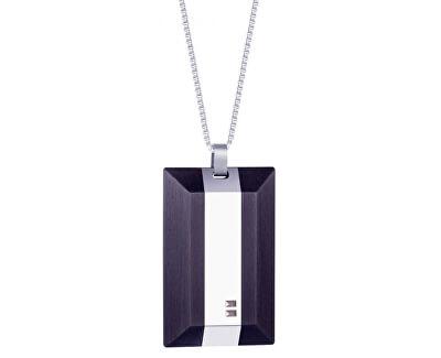 Colier de oțel pentru bărbați cu cristale 7314 Arne 40