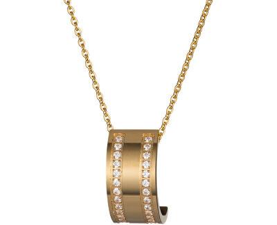 Preciosa Pozlátený náhrdelník Mia s čírymi kryštálmi 7224Y00