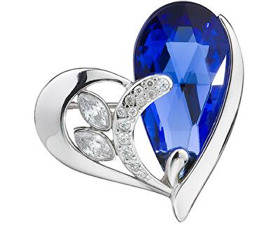 Strieborná brošňa Wild Heart Sapphire 6648 68