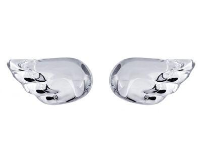 Preciosa Strieborné náušnice Crystal Wings 6065 00