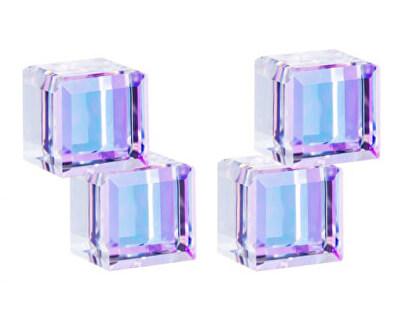 Cercei de argint cu cristale de cristal Cuburi 6063 43