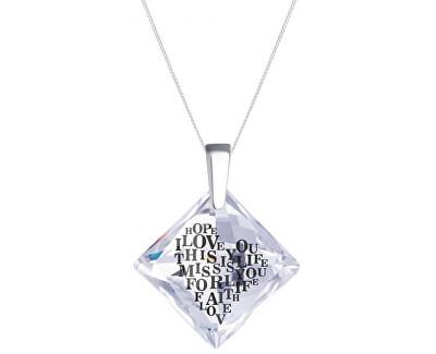 Colier din argint cu cristal Libi 6061 00