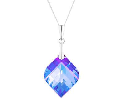 Colier din argint cu cristal Lilac 43 6043