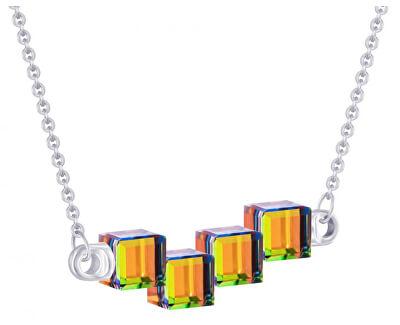 Colier din argint cu cristale de cristal Cuburi 6062 41