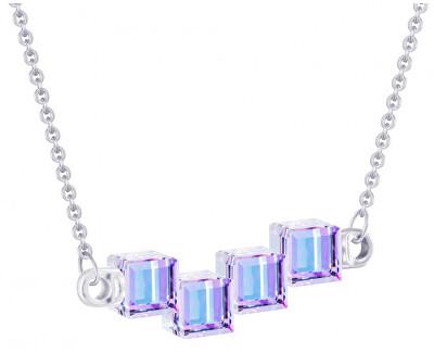 Colier din argint cu cristale de cristal Cuburi 6062 43