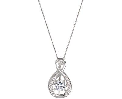 Preciosa Strieborný náhrdelník s kryštálmi Precision 5186 00