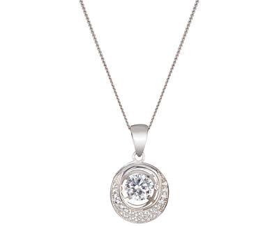 Preciosa Strieborný náhrdelník s kameňmi Shimmer 5184 00