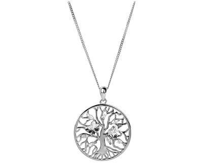 Preciosa Strieborný náhrdelník s kryštálmi Tree of Life 6072 00