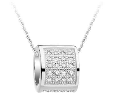 Stříbrný náhrdelník s třpytivým přívěskem Globe 5888 00