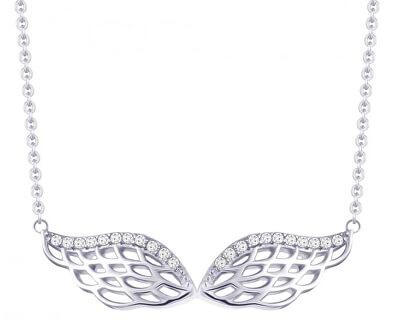 Colier de argint cu zirconiuAngel Wings 5217 00