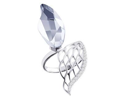Preciosa Strieborný otvorený prsteň s kryštálom Angel Wings 5219 00
