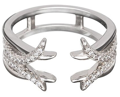 Preciosa Strieborný prsteň s kryštálmi Ethereal 5103 00