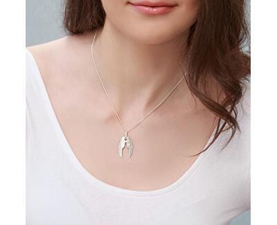 Designový stříbrný náhrdelník Angelo KO6097_CU035_50_A_RH  (řetízek, přívěsek)
