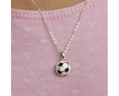 Dětský stříbrný náhrdelník Fotbal KO8056_BR030_40_RH  (řetízek, přívěsek)