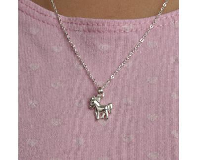 Dětský stříbrný náhrdelník Koník KO8063_BR030_40_RH  (řetízek, přívěsek)
